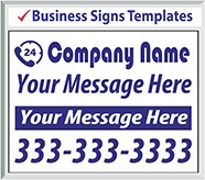 "Browse Business Signs Templates 24"" x 18"""