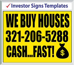 "Browse Investor Signs Templates 24"" x 18"""