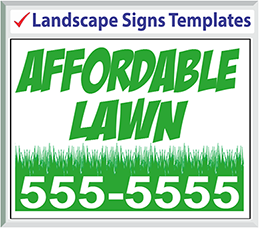 "Browse Landscape Signs Templates 24"" x 18"""