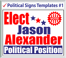 Select Political Signs Template #1