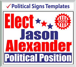 "Browse Political Signs Templates 24"" x 18"""