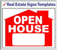 "Browse Real Estate Signs Templates 24"" x 18"""