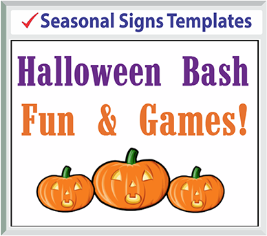 "Browse Seasonal Signs Templates 24"" x 18"""