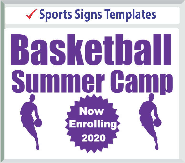 "Browse Sports Signs Templates 24"" x 18"""