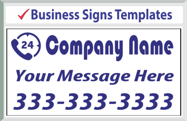 "Browse Business Signs Templates 24"" x 24"""