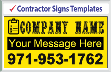 "Browse Contractor Signs Templates 24"" x 24"""