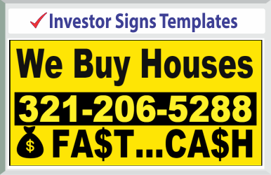 "Browse Investor Signs Templates 24"" x 24"""