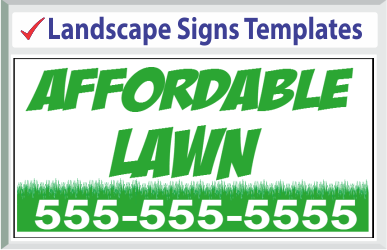 "Browse Landscape Signs Templates 24"" x 24"""