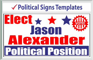 "Browse Political Signs Templates 24"" x 24"""
