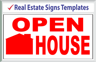 "Browse Real Estate Signs Templates 24"" x 24"""
