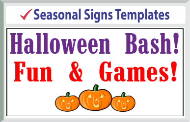 "Browse Seasonal Signs Templates 24"" x 24"""