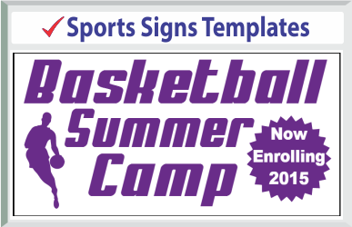 "Browse Sports Signs Templates 24"" x 24"""