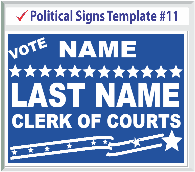 Select Political Signs Template #11