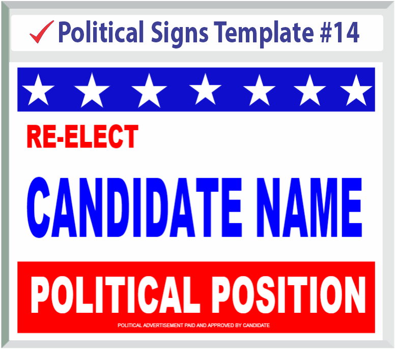 Select Political Signs Template #14
