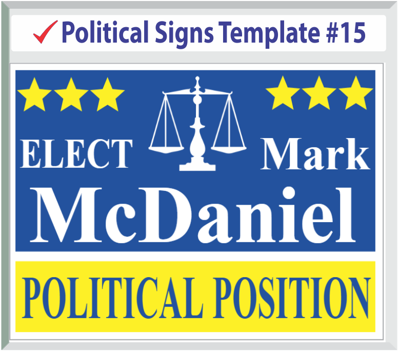 Select Political Signs Template #15