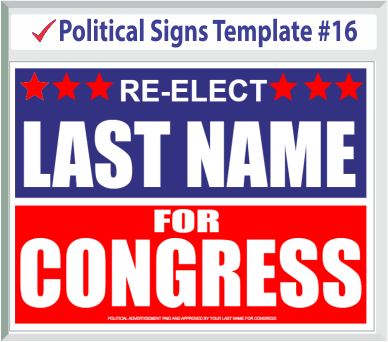 Select Political Signs Template #16