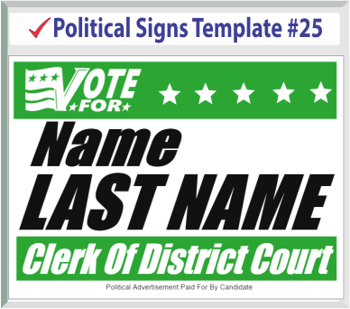 Select Political Signs Template #25
