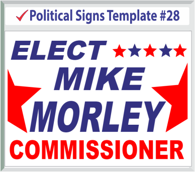 Select Political Signs Template #28
