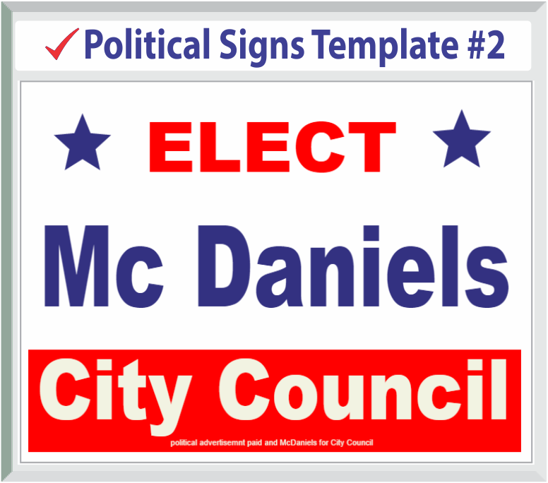 Select Political Signs Template #2
