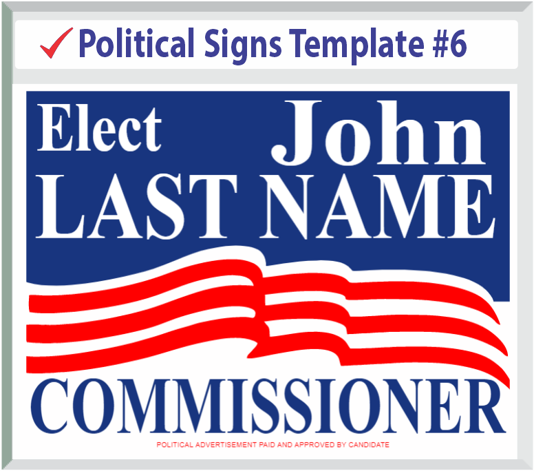 Select Political Signs Template #6