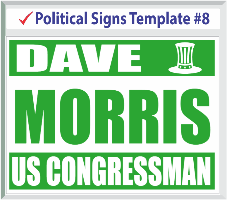 Select Political Signs Template #8