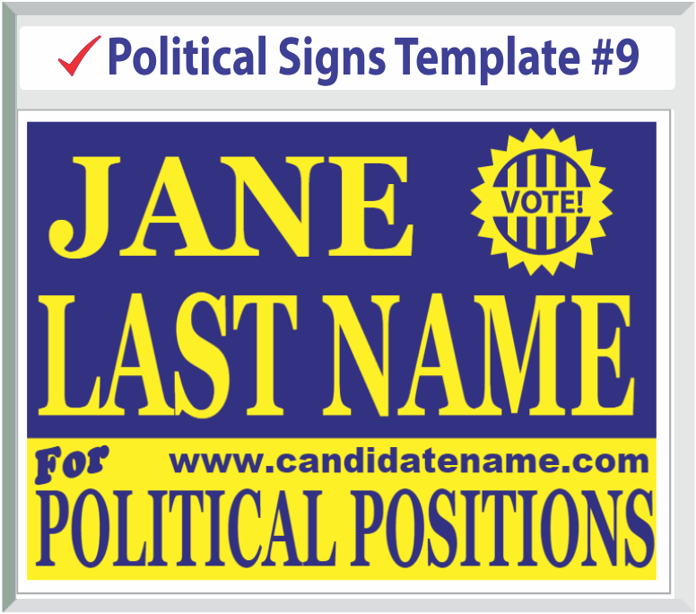 Select Political Signs Template #9